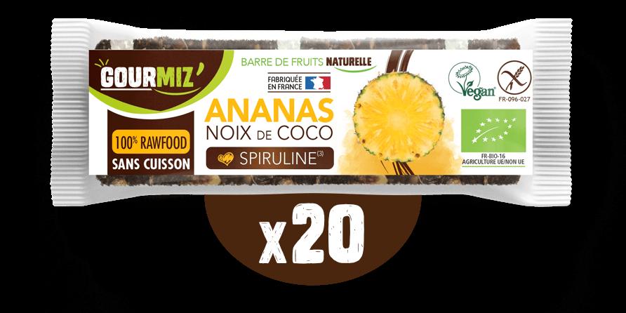 Barre Gourmiz' : ananas - noix de coco