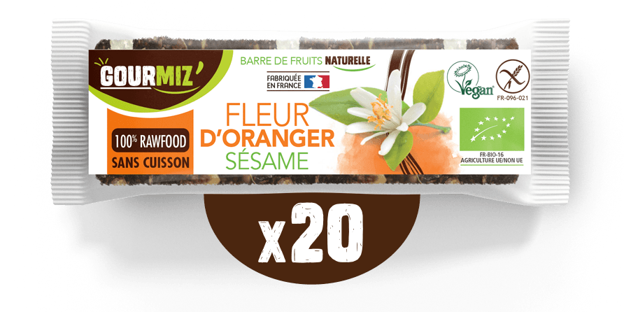 Barre Gourmiz' : fleur d'oranger - sésame