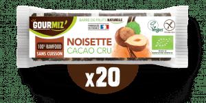 Barre Gourmiz' : noisettes - cacao-cru