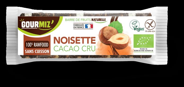 Barre Gourmiz' noisette - cacao cru