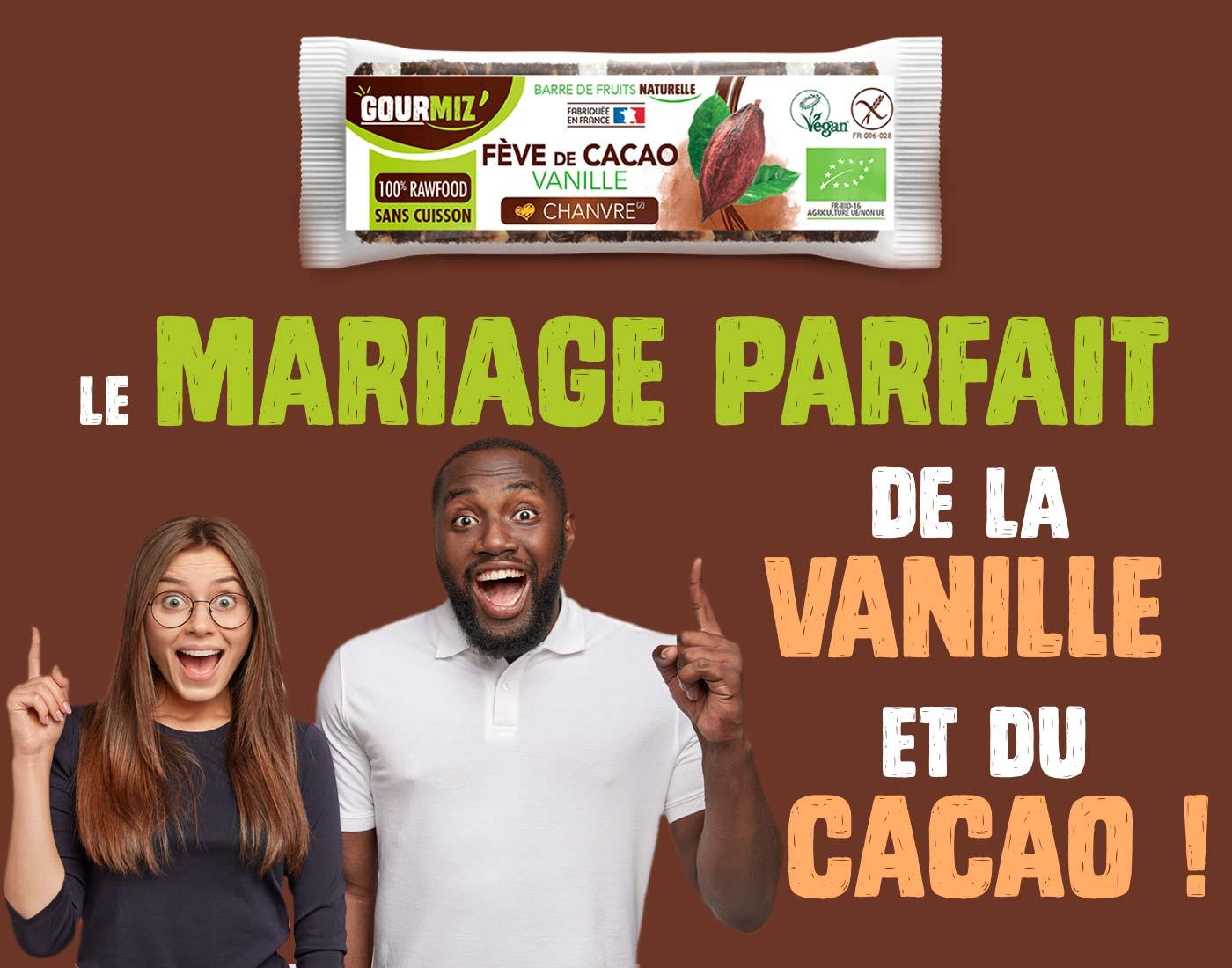 Gourmiz' : le mariage parfait de la vanille et du cacao