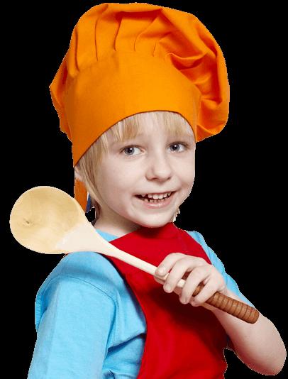 Petit garçon cuisinier
