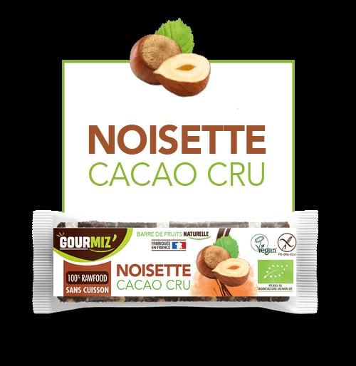 Gourmiz barre noisettes - cacao cru