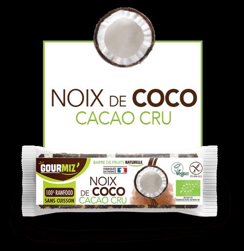 Gourmiz barre noix de coco-cacao cru