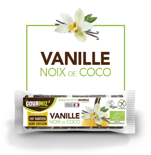 Gourmiz barre vanille - noix de coco